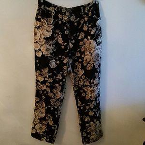 Ralph Lauren Pants - Ralph Lauren  floral linen pants, size 10